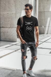 minimalist-xwing-tie-fighter-star-wars-wall-Tshirt