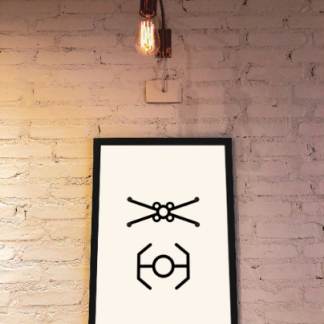 minimalist-xwing-tie-fighter-star-wars-wall-art