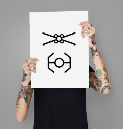minimalist-xwing-tie-fighter-star-wars-wall-art